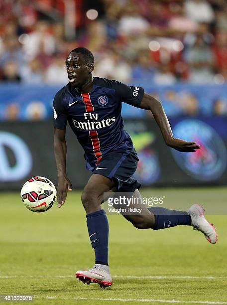 JeanKevin Augustin of Paris SaintGermain in action during the 2015 International Champions Cup match against Benfica at BMO Field on July 18 2015 in...