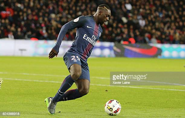 JeanKevin Augustin of Paris SaintGermain in action during the French Ligue 1 match between Paris SaintGermain and FC Nantes at Parc des Princes on...