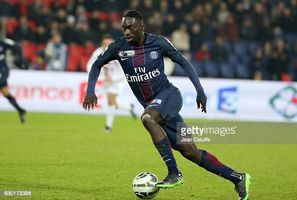 JeanKevin Augustin of PSG in action during the French League Cup match between Paris SaintGermain and Lille OSC at Parc des Princes stadium on...