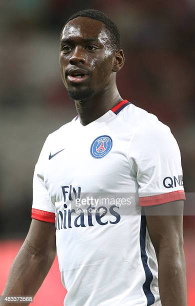 JeanKevin Augustin of PSG looks on during the French Ligue 1 match between Lille OSC and Paris SaintGermain at Grand Stade Pierre Mauroy on August 7...