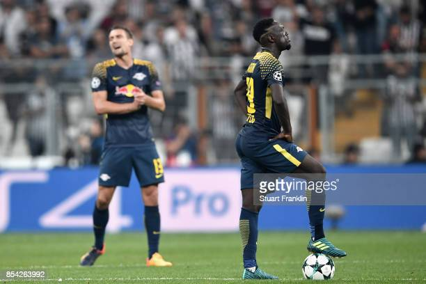 JeanKevin Augustin of RB Leipzig reacts during the UEFA Champions League Group G match between Besiktas and RB Leipzig at Besiktas Park on September...
