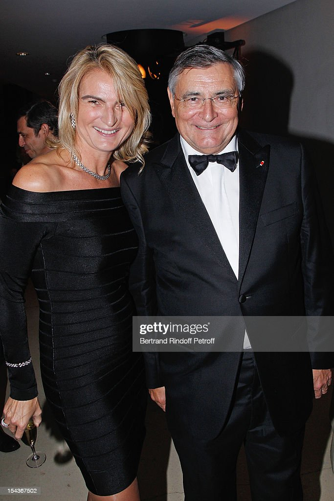 <a gi-track='captionPersonalityLinkClicked' href=/galleries/search?phrase=Jean-Louis+Beffa&family=editorial&specificpeople=769413 ng-click='$event.stopPropagation()'>Jean-Louis Beffa</a> (R), Honorary President of AROP, and Olivia Flatto attend AROP Gala Dinner on October 18, 2012 in Paris, France.