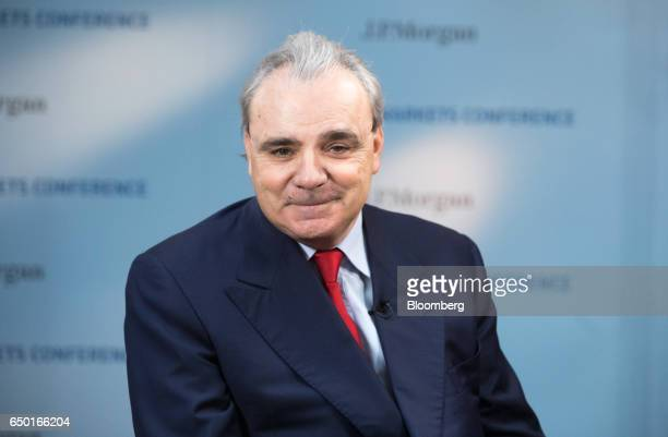 JeanLouis Chaussade chief executive officer of Suez SA pauses during a Bloomberg Television interview in Paris France on Thursday March 9 2017 Suez...