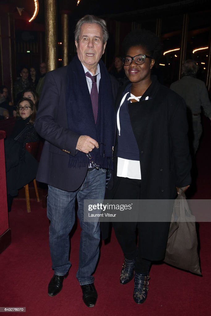 Jean-Louis Debre and Claudia Tagbo attend 'La Nuit De La Deprime 2017' at Folies Bergeres on February 20, 2017 in Paris, France.