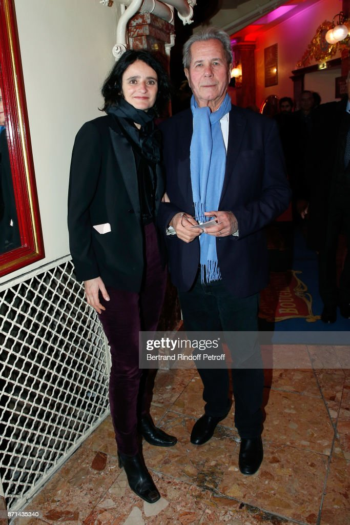 Jean-Louis Debre and his companion Valerie Bochenek attend 'Depardieu Chante Barbara' at Le Cirque d'Hiver on November 7, 2017 in Paris, France.