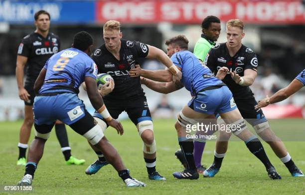JeanLuc du Preez of the Cell C Sharks during the Super Rugby match between Cell C Sharks and Force at Growthpoint Kings Park on May 06 2017 in Durban...