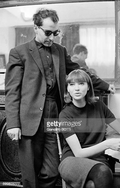 JeanLuc Godard et Anna Karina dans les années 1960 en France