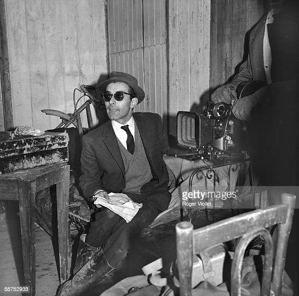 JeanLuc Godard French director Shooting of the 'Policecustoms officers' December 1962 ADR061014
