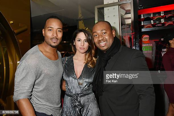 Jeanluc GuizonneÊfrom Star Academy TV presenter Charlotte Namura and VIP Room Physionomist Paul Dacoury attend Bruno Mars Official After Show at VIP...