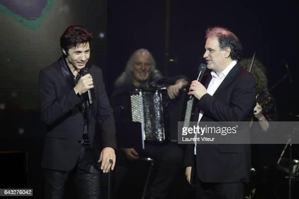 JeanLuc Lahaye and Raphael Mezrahi attend 'La Nuit De La Deprime 2017' at Folies Bergeres on February 20 2017 in Paris France