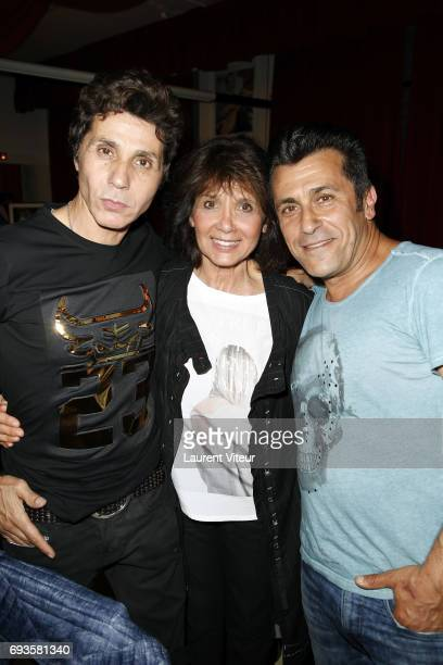 JeanLuc Lahaye Stephanie Fugain and Bebert attend Photographer Olivier Palade Exhibition at La Chope des Puces on June 7 2017 in SaintOuen France