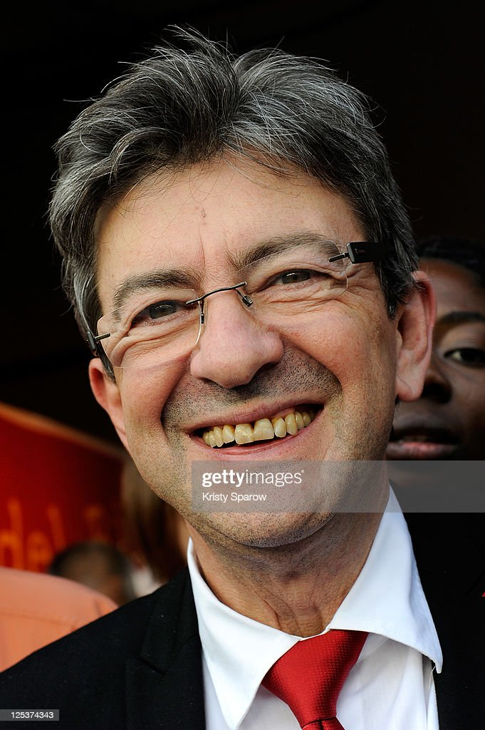 Jean-Luc Melenchon attends the first day of the Fete de L'Humanite festival on September 16, 2011 in La Courneuve, France.
