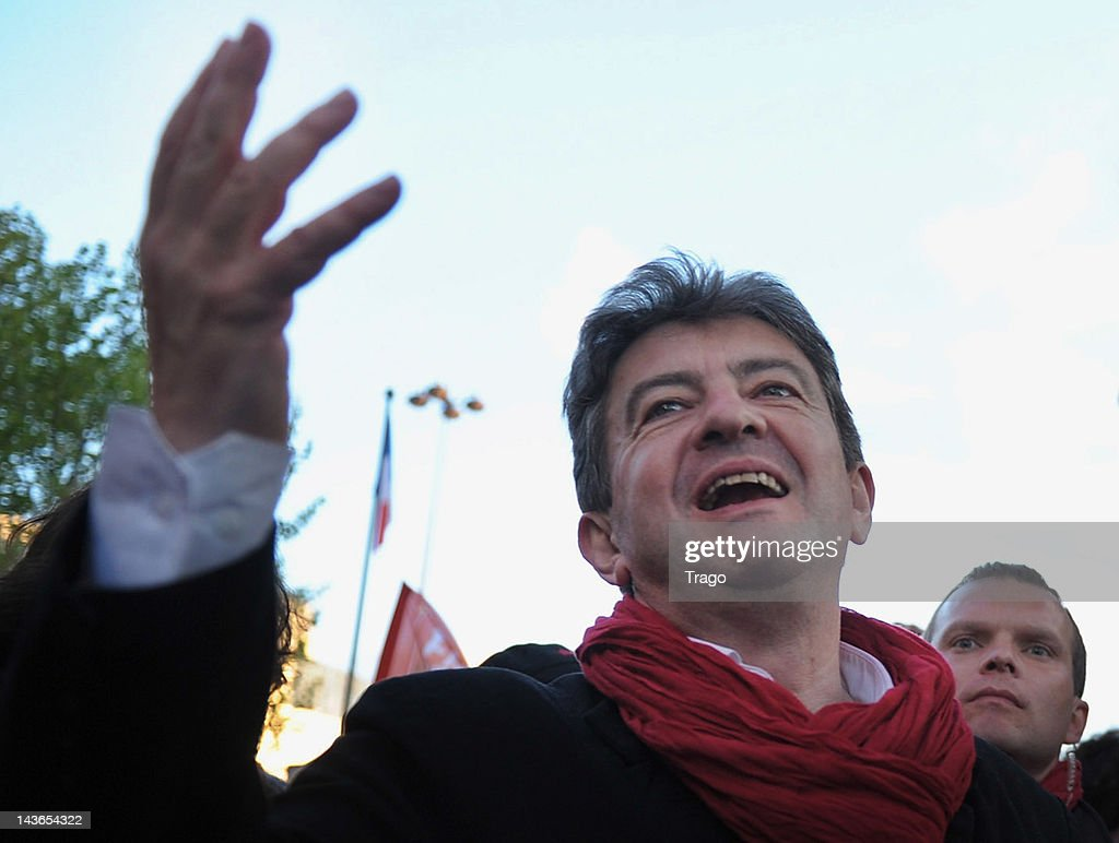 Jean-Luc Melenchon, President of the Left Party attends the May Day demonstration on May 1, 2012 in Paris, France. The French trade unionists and the Left traditionally hold parades throughout France on May Day, otherwise known as Labour Day. This year warnings have been given of increased disruption as tension builds ahead of the French presidential elections which will hold their final round on May 6, 2012.