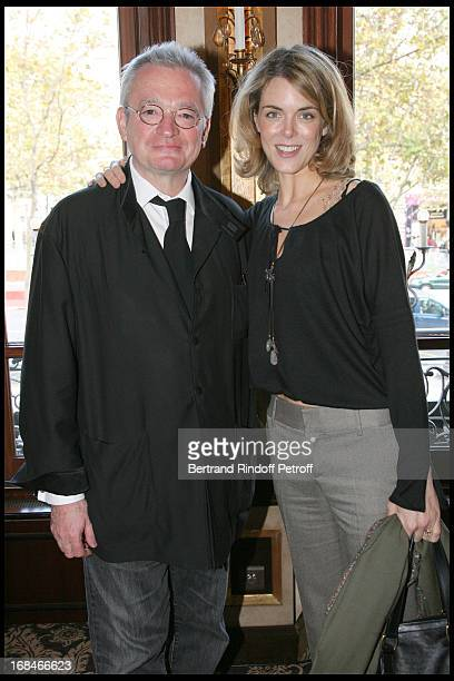 JeanLuc Petitrenaud and Julie Andrieu at Launch Of The 2009 Edition Of the Gault Millau Food Guide At Fouquet's Barriere In Paris