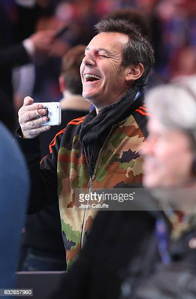 JeanLuc Reichmann attends the 25th IHF Men's World Championship 2017 Quarter Final match between France and Sweden at Stade Pierre Mauroy on January...