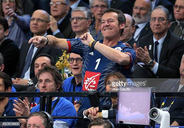 JeanLuc Reichmann reacts during the 25th IHF Men's World Championship 2017 Semi Final handball match between France and Slovenia at Accorhotels Arena...