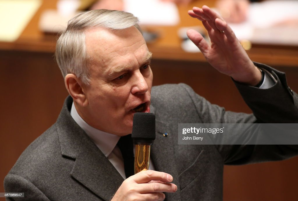 <a gi-track='captionPersonalityLinkClicked' href=/galleries/search?phrase=Jean-Marc+Ayrault&family=editorial&specificpeople=551961 ng-click='$event.stopPropagation()'>Jean-Marc Ayrault</a>, french Prime Minister participates at the Questions to the Government at the french National Assembly on February 4, 2014 in Paris, France.