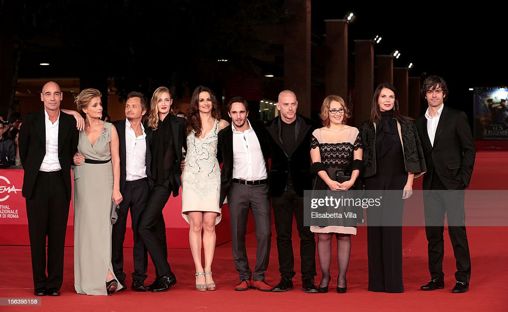 Jean-Marc Barr, Isabella Ferrari, Paolo Franchi, Eva Riccobono, Anita Kravos, Christian Burruano, Filippo Nigro, Nicoletta Mantovani, Sonia Raule and Luca Argentero attend the 'E La Chiamano Estate' Premiere during the 7th Rome Film Festival at the Auditorium Parco Della Musica on November 14, 2012 in Rome, Italy.