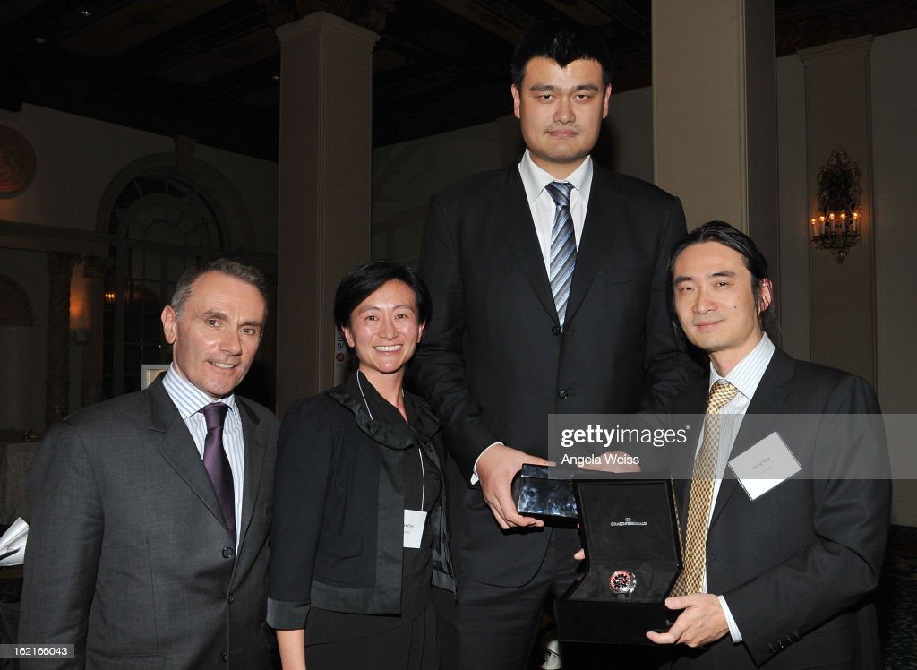 Jean-Marc Bories, Alice Chen, NBA Great <a gi-track='captionPersonalityLinkClicked' href=/galleries/search?phrase=Yao+Ming&family=editorial&specificpeople=201476 ng-click='$event.stopPropagation()'>Yao Ming</a> and Yong You attend the Girard-Perregaux and Asia Society event honoring NBA Great <a gi-track='captionPersonalityLinkClicked' href=/galleries/search?phrase=Yao+Ming&family=editorial&specificpeople=201476 ng-click='$event.stopPropagation()'>Yao Ming</a> with Steve Nash at Millennium Biltmore Hotel on February 19, 2013 in Los Angeles, California.