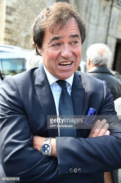 JeanMarc Le Nestour the lawyer of late French judge JeanMichel Lambert waits before his funeral at the SaintJulien Cathedral in Le Mans northwestern...
