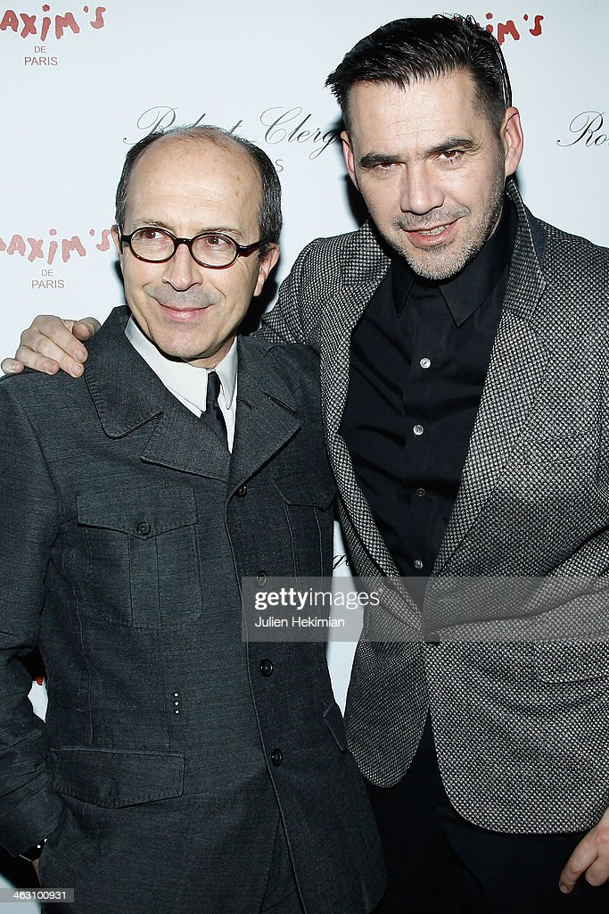 Jean-Marc Loubier and <a gi-track='captionPersonalityLinkClicked' href=/galleries/search?phrase=Roland+Mouret+-+Fashion+Designer&family=editorial&specificpeople=4863595 ng-click='$event.stopPropagation()'>Roland Mouret</a> attend the Robert Clergerie and <a gi-track='captionPersonalityLinkClicked' href=/galleries/search?phrase=Roland+Mouret+-+Fashion+Designer&family=editorial&specificpeople=4863595 ng-click='$event.stopPropagation()'>Roland Mouret</a> Cocktail Party as part of Paris Fashion Week on January 16, 2014 in Paris, France.
