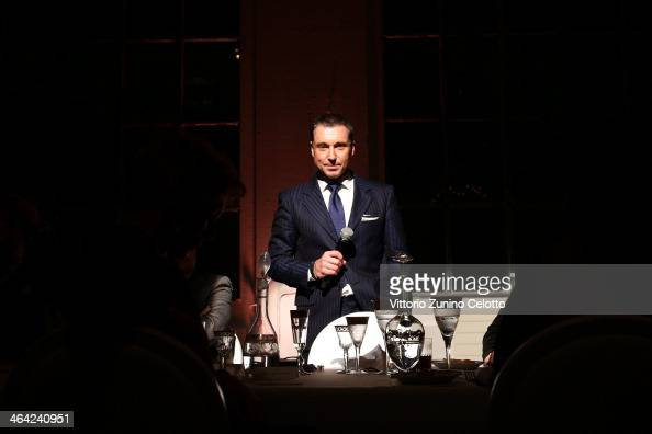 JeanMarc Pontroue speech during Roger Dubuis event during the SIHH 2014 on January 21 2014 in Geneva Switzerland