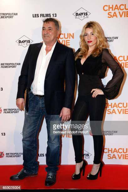 JeanMarie Bigard and his wife Lola Marois attend the 'Chacun sa vie' Paris Premiere at Cinema UGC Normandie on March 13 2017 in Paris France