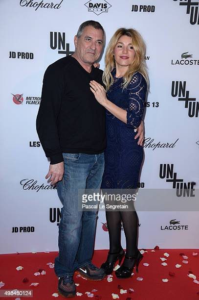 JeanMarie Bigard and wife Lola Marois attend The 'Un Une' Paris Premiere At Cinema UGC Normandie on November 23 2015 in Paris France