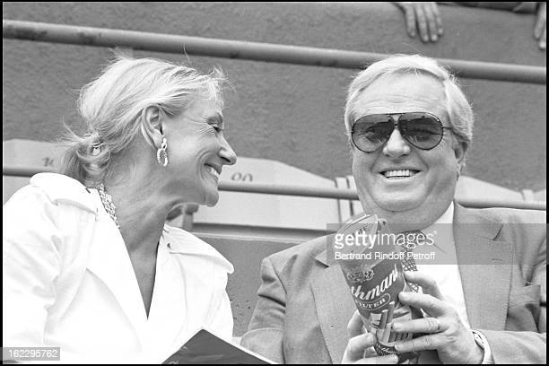 JeanMarie Le Pen and Wife Pierrette at 1984 Roland Garros Tennis Tournament