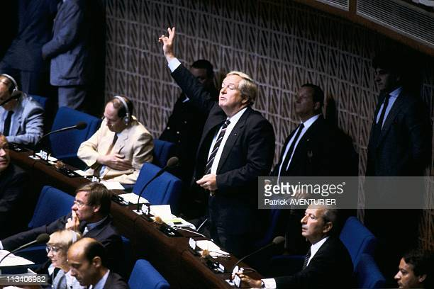 JeanMarie Le Pen At European Parliament On July 24th 1984 In StrasbourgFrance