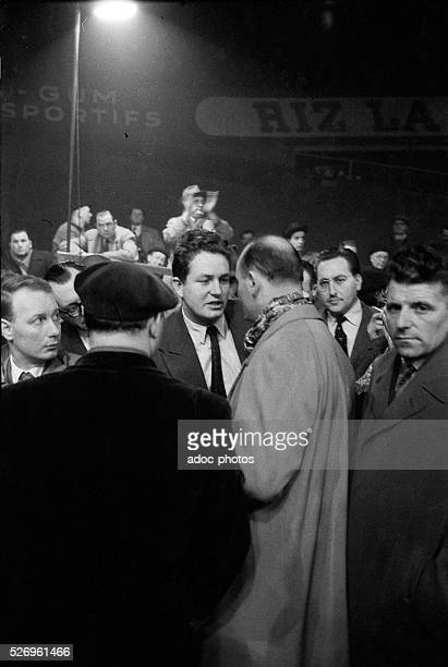 JeanMarie Le Pen during a meeting of Pierre Poujade at the Vel d'Hiv in Paris In January 1956
