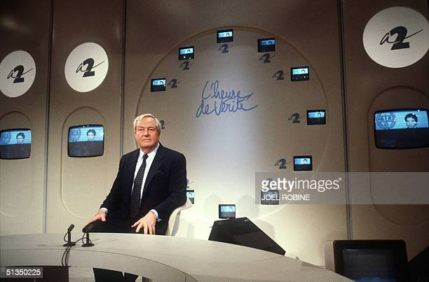 JeanMarie Le Pen France's farright leader and founder of the National Front concentrates 06 May 1987 in Paris prior an Antenne II TV network talkshow