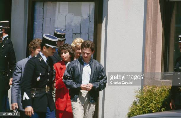 JeanMarie Villemin and other members of the family of murdered four yearold Grégory Villemin leaving the town hall in Gerardmer in northeastern...