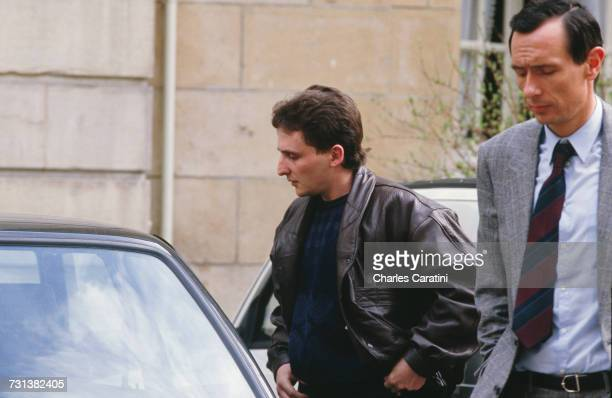 JeanMarie Villemin outside the courthouse in Dijon France 23rd March 1988 He is testifying along with his wife Christine before Judge Maurice Simon...