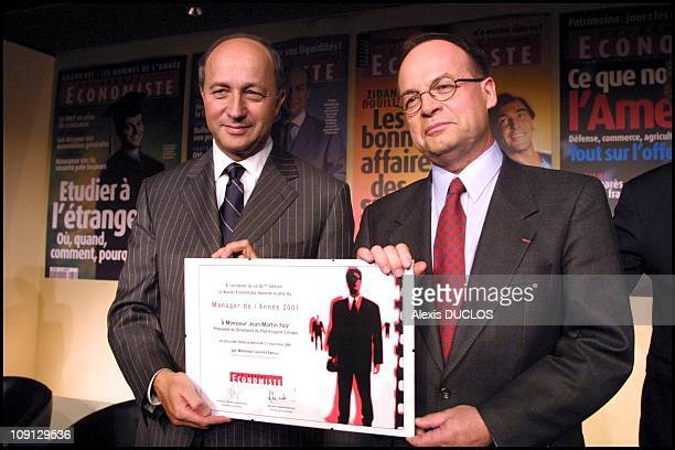 JeanMartin Folz Ceo Of Psa Peugeot Citroen Elected 'Manager Of The Year 2001' By The 'Nouvel Economiste' Magazine On November 21Th 2001 In Paris...