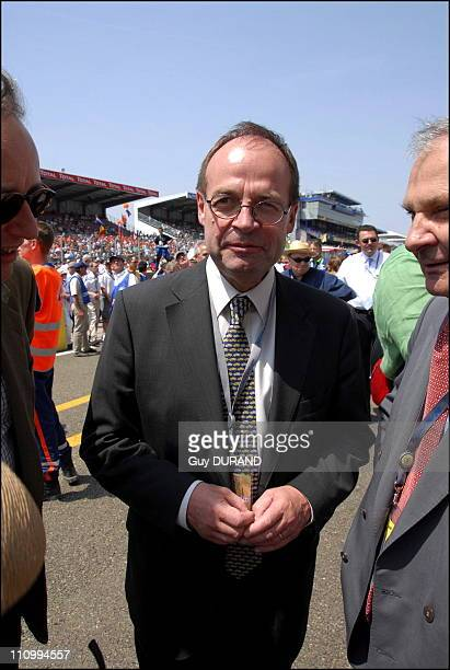 JeanMartin Folz chairman of PSA Peugeot Citroen which will return the honor of the start of the 24 Hours 2006 in Le Mans France on June 17th 2006