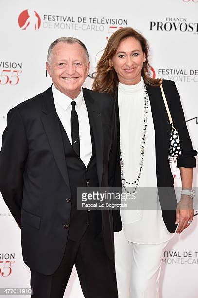 JeanMichel Aulas and wife Nathalie arrive at the opening ceremony of the 55th Monte Carlo TV Festival on June 13 2015 in MonteCarlo Monaco