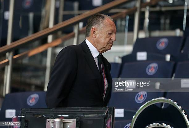 JeanMichel Aulas attends during the French Ligue 1 between Paris SaintGermain FC and Olympique Lyonnais FC at Parc Des Princes on September 21 2014...