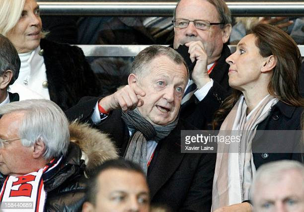 JeanMichel Aulas attends the French Ligue 1 between Paris SaintGermain FC and Lyon Olympique at Parc des Princes on December 16 2012 in Paris France
