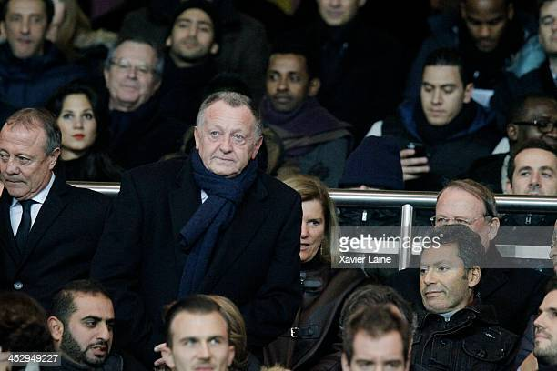 JeanMichel Aulas attends the French Ligue 1 between Paris SaintGermain FC and Olympique Lyonnais at Parc Des Princes on December 1 2013 in Paris...