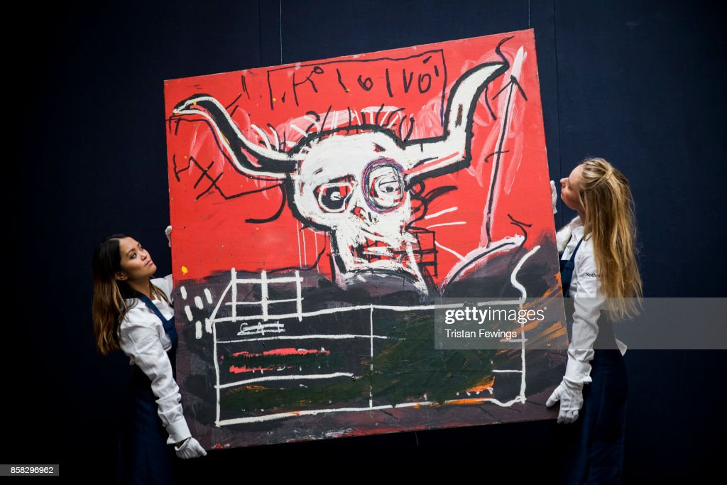 Jean-Michel Basquiat's Cabra (Estimate $9-12 million) goes on view as part of Sotheby's Contemporary Impressionist New York TRAVEX highlights preview at Sotheby's on October 6, 2017 in London, England. The Contemporary Art Evening Auction takes place at Sothebys New York on 16th November 2017.