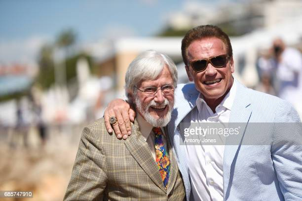 JeanMichel Cousteau and Arnold Schwarzenegger attend Arnold Schwarzenegger and JeanMichel Cousteau Photocall for 'Wonders of the Sea 3D' during the...