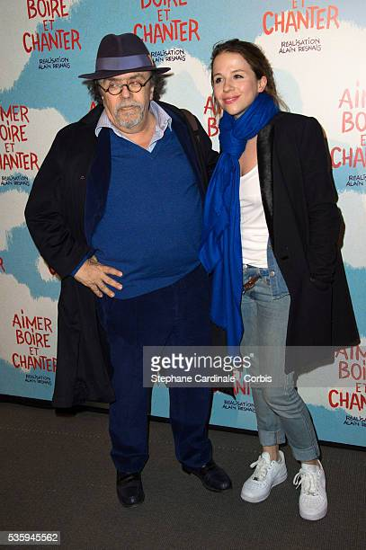 JeanMichel Ribes and his daughter Alexie attend the premiere of 'Aimer Boire et Chanter' in Paris
