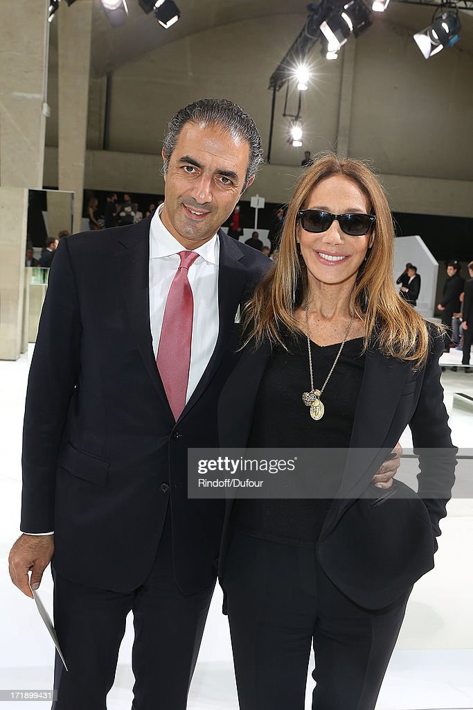 Jean-Michel Simonian and Marisa Berenson attend Dior Homme Menswear Spring/Summer 2014 show as part of Paris Fashion Week on June 29, 2013 in Paris, France.