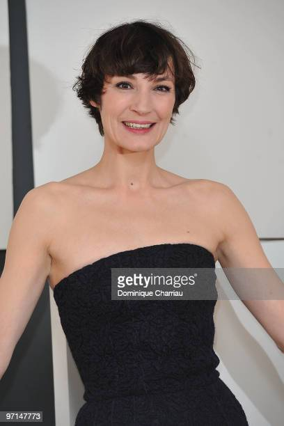 Jeanne Balibar poses in Awards Room during 35th Cesar Film Awards at Theatre du Chatelet on February 27 2010 in Paris France
