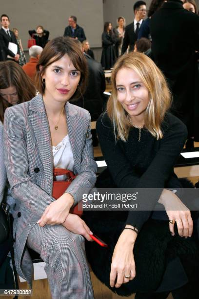 Jeanne Damas and Alexandra Golovanoff attend the Nina Ricci show as part of the Paris Fashion Week Womenswear Fall/Winter 2017/2018 on March 4 2017...