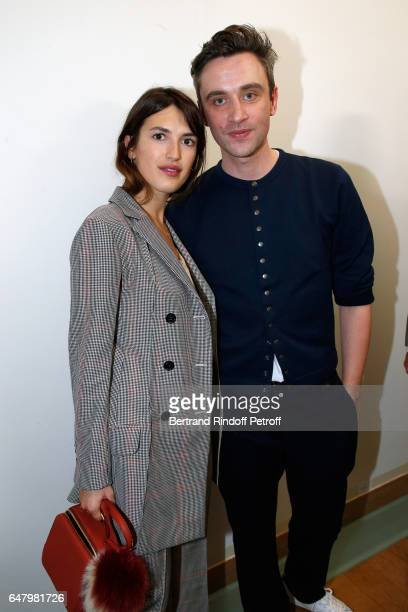 Jeanne Damas and Stylist Guillaume Henry pose backstage after the Nina Ricci show as part of the Paris Fashion Week Womenswear Fall/Winter 2017/2018...