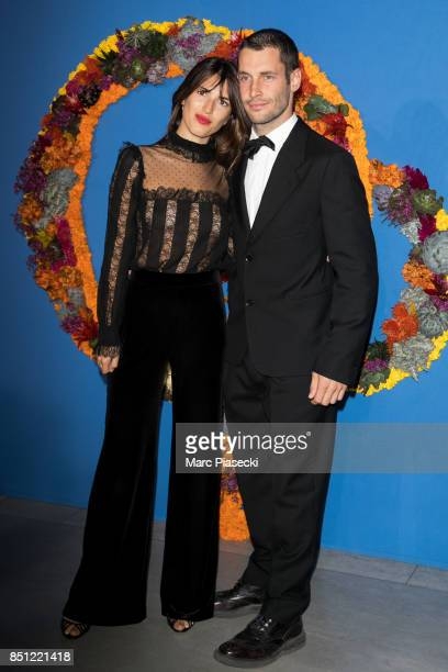 Jeanne Damas and stylist Simon Porte Jacquemus attend the Opening Season Gala at Opera Garnier on September 21 2017 in Paris France