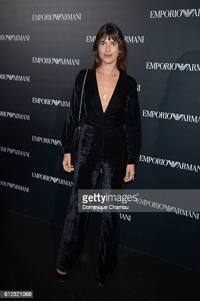 Jeanne Damas attends the Emporio Armani show as part of the Paris Fashion Week Womenswear Spring/Summer 2017 on October 3 2016 in Paris France