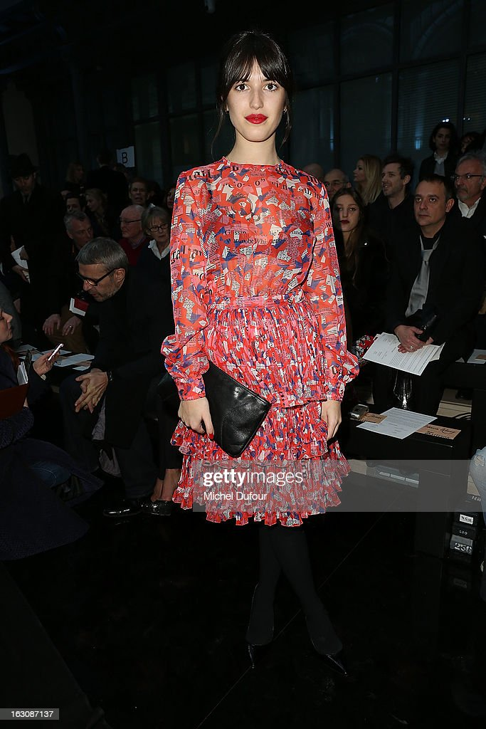 Jeanne Damas attends the John Galliano Fall/Winter 2013 Ready-to-Wear show as part of Paris Fashion Week at Le Centorial on March 3, 2013 in Paris, France.